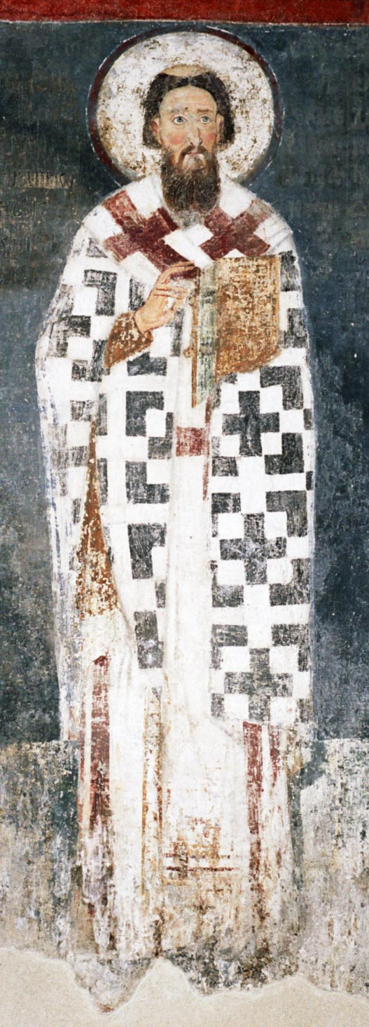 Saint Sava fresco in Mileseva monastery